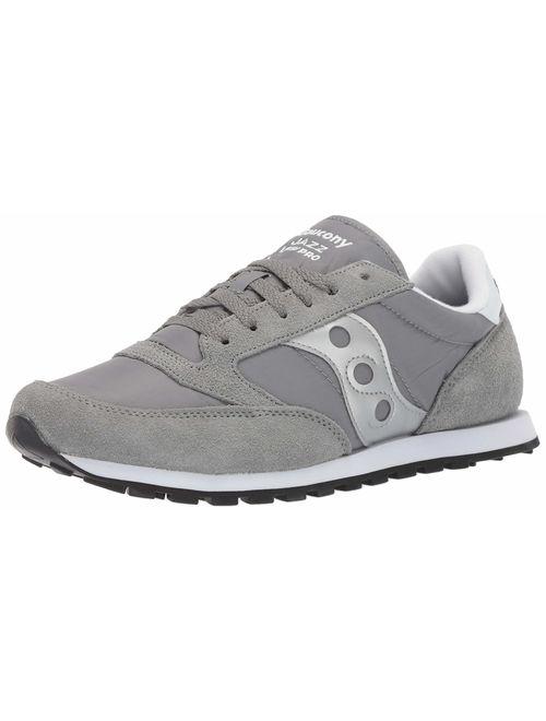 Saucony Men's Jazz Lowpro Sneaker, Grey, 8.5