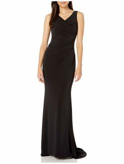 Women's Sleeveless Ruched Evening Gown