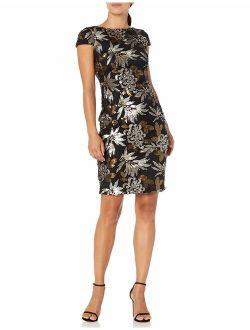 Women's Short Sequin Sleeve Dress
