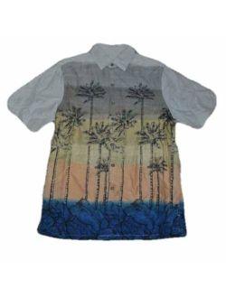 Batik Bay Men's Tropical Button Down Short Sleeve Rayon Shirt-Size S