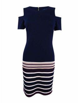Women's Cold-shoulder Sheath Dress