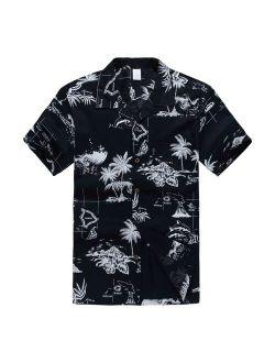 Palm Wave Men's Hawaiian Shirt Aloha Shirt