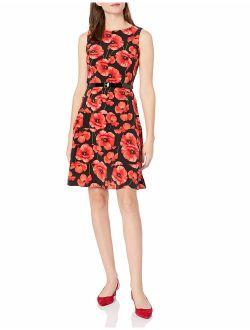 Women's Polka Dot Dress With Belt