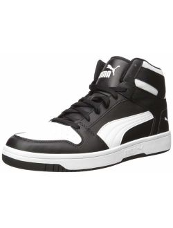 Rebound Layup Sneaker, Black White, 6 M Us