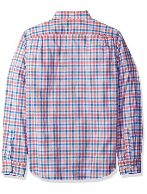 Nautica Men's Classic Fit Stretch Plaid Long Sleeve Button Down Shirt
