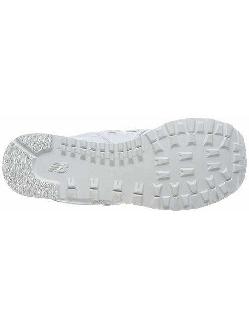 New Balance Men's 574v2 Sneaker, White/White, 15 2E US