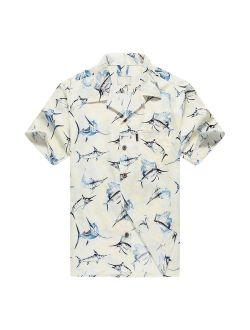 Palm Wave Men's Hawaiian Shirt Aloha Shirt Luau Shirt