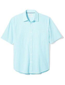 Sky Blue Cotton Gingham Regular Fit Shirt