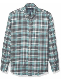Amazon Brand - Buttoned Down Men's Classic Fit Supima Cotton Plaid Flannel Sport Shirt