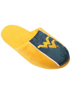 West Virginia Mountaineers Youth Big Logo Stripe Slippers