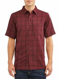 Men's And Big Men's Short Sleeve Microfiber Shirt