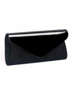 Eather Clutch Classic Purse, Wallyn's Evening Bag Handbag With Flannelette