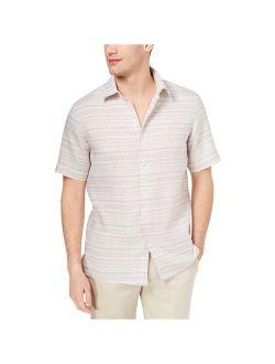 Mens Linen Button Up Shirt