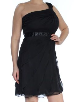 Womens Tiered One Shoulder Cocktail Dress
