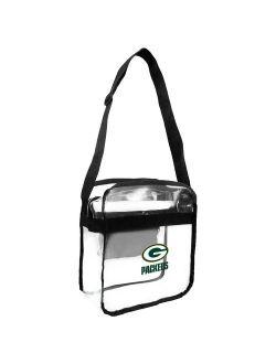 Little Earth - NFL Clear Carryall Cross Body Bag, Green Bay Packers