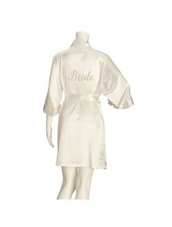 Lillian Rose Ivory Satin Bride Robe (L/XL)