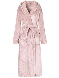 Richie House Women's Soft and Warm Robe Bathrobe with Hood RHW2823-A-L