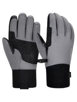 Winter Gloves for Women Men Touch Screen Gloves Anti-slip Sport Gloves for Running, Climbing, Skiing, Cycling, Grey, S