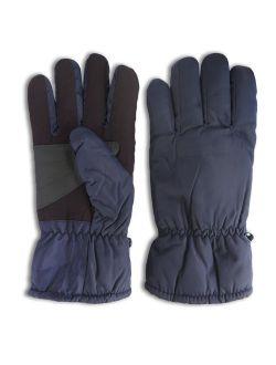 Polar Extreme Thick Waterproof Windproof Anti Slip Palm Warm Winter Sports Ski Gloves (Navy)