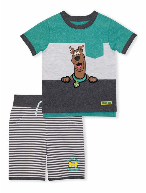 Scooby Doo Baby Toddler Boy T-shirt & Short, 2 pc Outfit Set