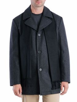 """F.O.G Men's 33"""" Wool Peacoat, up to Size 2XL"""
