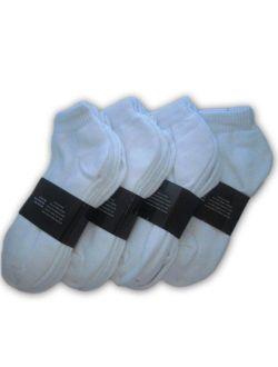 Wholesale Lot 48 Pairs Men's Sport Socks Ankle/Quarter Crew Athletic Socks (White, 9-11)