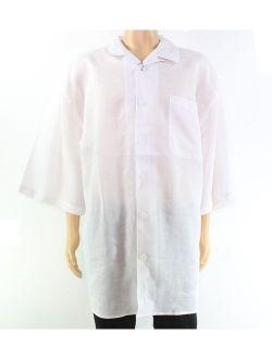 Trust Mens Button Down Linen Chest-Pocket Shirt