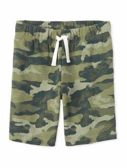 Boys 4-16 Camo Printed Knit Shorts