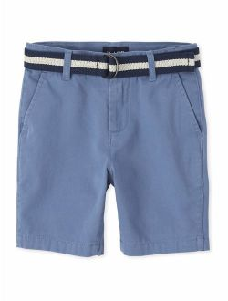 Boys 4-16 Belted Chino Shorts