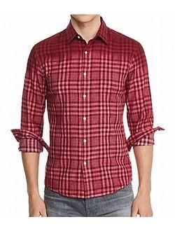 Mens Shirt Large Button Down Slim Fit Linen L