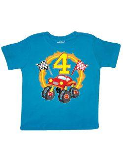 Monster Truck 4th birthday Toddler T-Shirt