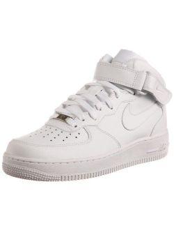 Men's Air Force 1 Mid '07 White/white Basketball Shoe 9 Men Us