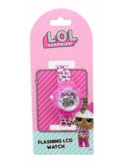 LOL Surprise Flashing LCD Watch - Pink Leopard Print Band