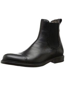 Aquatalia Men's Freddy Chelsea Boot, Black, 8.5 M US