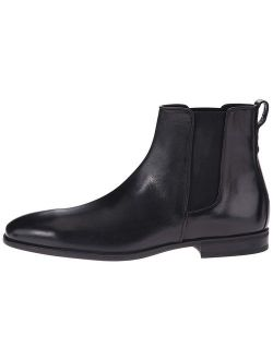Aquatalia Men's Adrian Dress Suede Chelsea Boot, Black, Size 9.0