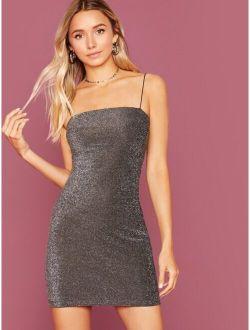 Glitter Bodycon Slip Dress
