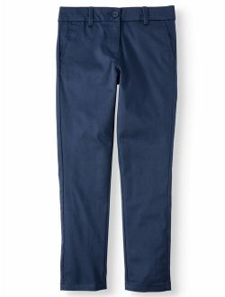 Girls Plus 8-20 School Uniform Stretch Twill Skinny Pants