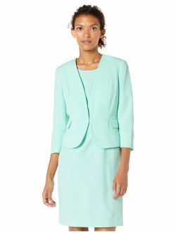 Le Suit Women's Stretch Crepe Kiss Front Jacket and Dress