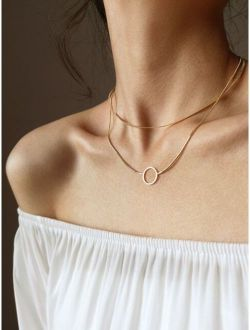 Ring Decor Necklace 1pc