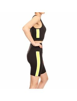 Shosho Womens Sports Athleisure 2 Piece Activewear Sets Tops and Yoga Bottoms Casual Outfits