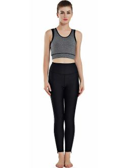 JINSEYUAN Women's Fitness Set, Yoga wear, Sportswear (Set of 2)