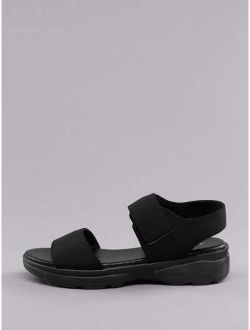 Open Toe Stretch Fit Chunky Sole Athletic Sandals