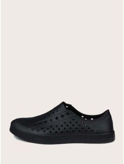 Men Perforated Slip On Sneakers