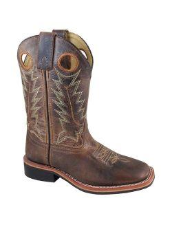Smoky Mountain Kid's Jesse Brown Waxed Distress Cowboy Boots 3668