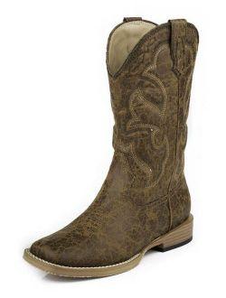Roper Western Boots Boys Kids Stitch Tan 09-119-1900-0065 TA