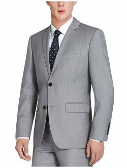 CHAMA Men's 100% Wool Single Breasted Two Button Notch Lapel Classic Fit Suit