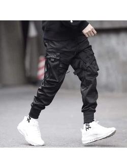 Mens Joggers Pants Long Multi-pockets Outdoor Fashion Casual Jogging Cool Pant With Drawstring