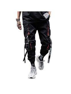 Men's Hiphop Punk Jogger Sport Harem Pants Cargo Pants