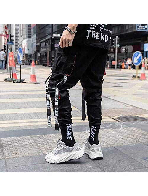 HONIEE Men's Hiphop Punk Jogger Sport Harem Pants Cargo Pants