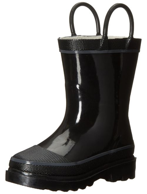 Western Chief Kids' Waterproof Rubber Classic Rain Boot with Pull Handles